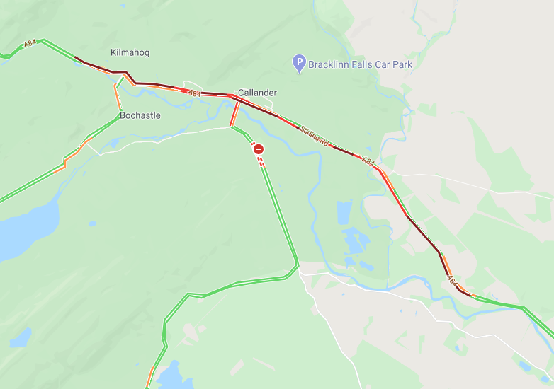 test Twitter Media - ❗️UPDATE⌚️15.50  #A84 towards Callander:  🔹still seeing long queues coming from Doune; 🔹also very busy now heading south into Callander.  @StirlingCouncil @NWTrunkRoads https://t.co/NSJK9djqIr