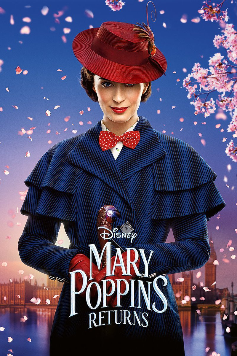 #MaryPoppinsReturns #MovieReview: 4/10  Pros:  •Emily Blunt as Mary Poppins  •One/two good songs  •Lin-Manuel Miranda's performance  Cons:  •Annoying characters  •Horrible subplots  •Bad pacing  •Colin Firth is wasted  •God-awful plot structure  •Feels unnecessary pic.twitter.com/JmIm2sZRAj