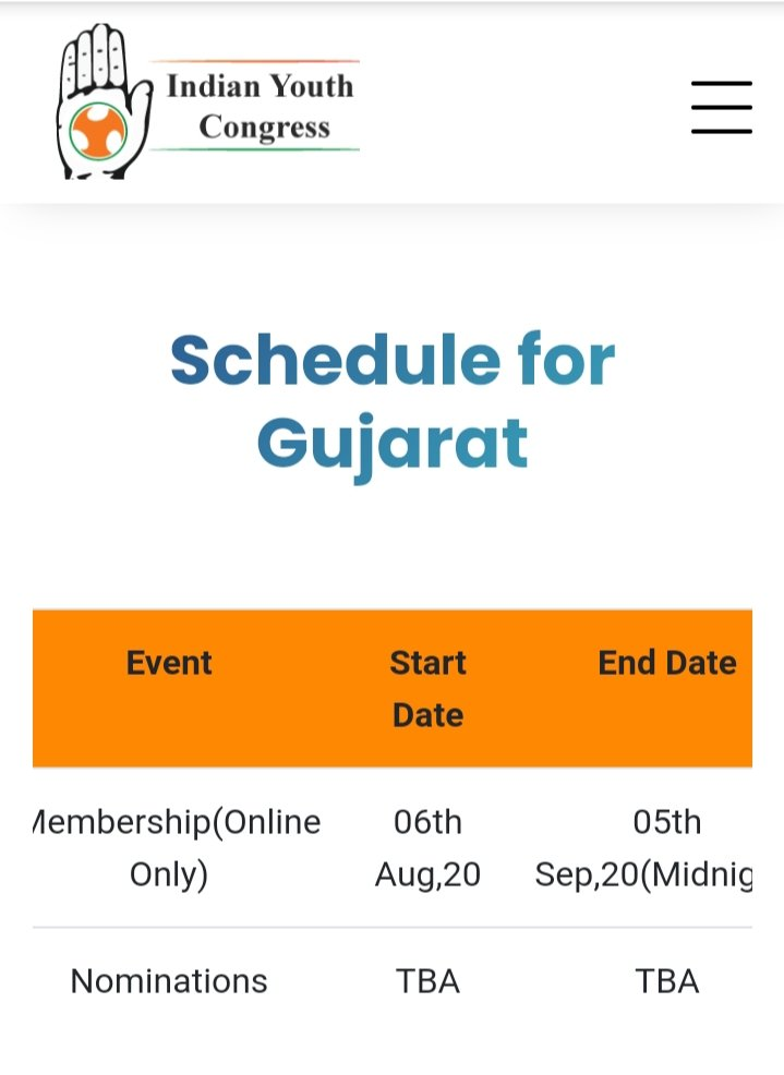 #IndianYouthCongress On-line Membership Launched  on 6th Aug in #Gujarat & #HimachalPradesh.Vision by #RahulGandhi to Encourage the Comon #IndianYouth to Participate in Active #Politics.pic.twitter.com/EC4d1tUppt
