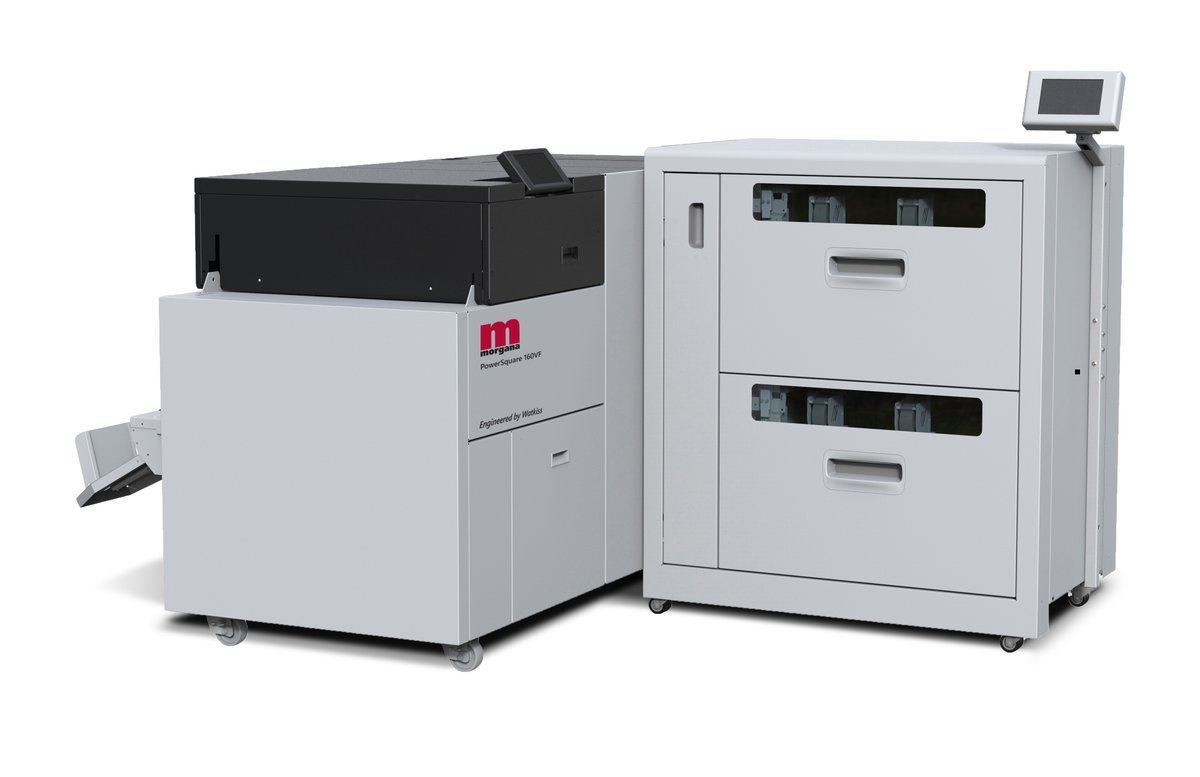 #Print & #Digitalprint News: Morgana's PowerSquare 160 is the latest addition to its range, meeting the needs of mid to high volume printers.  The unit is capable of producing #booklets from a wide range of sheet sizes/materials.   See it in action here: https://bit.ly/3dsE6PG pic.twitter.com/f7oXZCjiqg