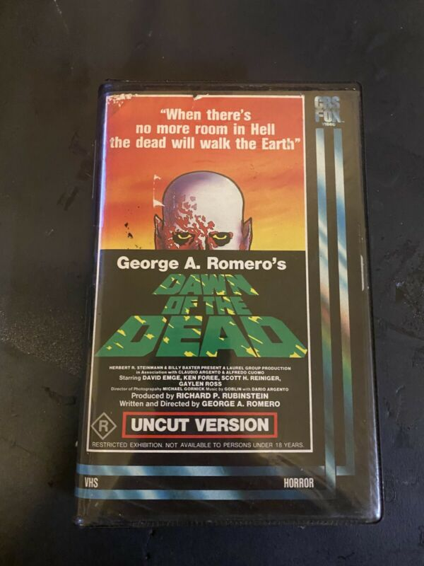 Dawn Of the Dead CBS FOX VHS-Clamshell-Original case  http://rover.ebay.com/rover/1/711-53200-19255-0/1?ff3=4&pub=5575170770&toolid=10001&campid=5337861207&customid=&mpre=https%3A%2F%2Fwww.ebay.com%2Fitm%2FDawn-Dead-CBS-FOX-VHS-Clamshell-Original-case-%2F203065142562 …pic.twitter.com/jMOeKfEZlx