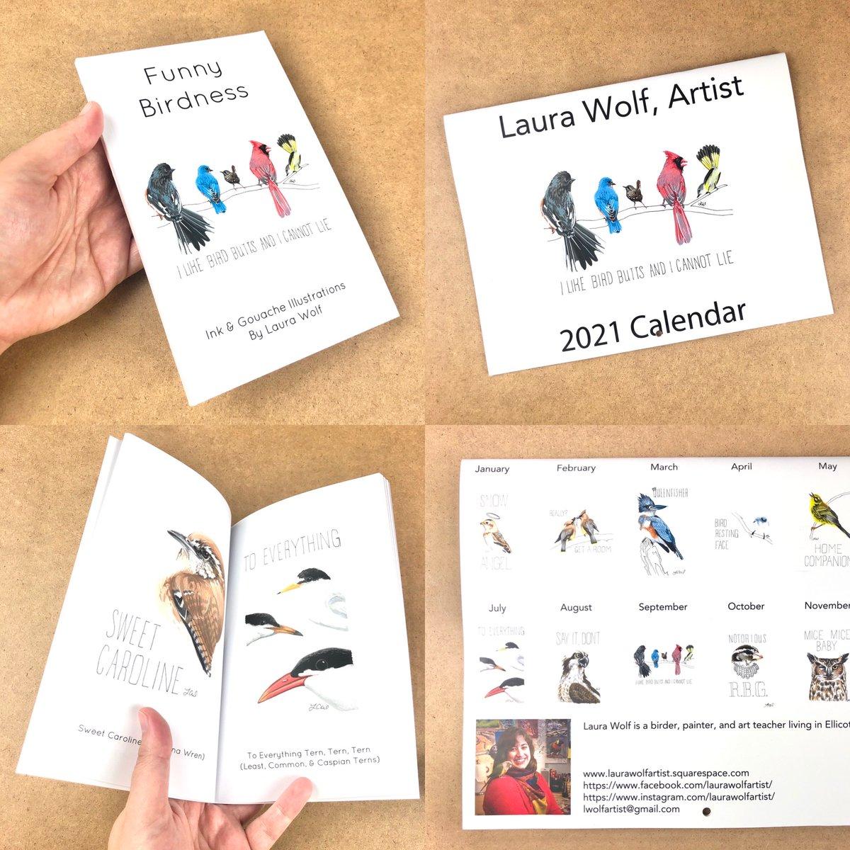 2021 #calendars and my very own #book are good to go! Link in profile! #birds #birding #birdwatching #bird #painting #gouache #ink #illustration #localartist #funnybirdness #puns #humor #featheredfriends #papergoods #gifts #natureart #wildlifeart #nature #wildlife #animalspic.twitter.com/brws0xADKA