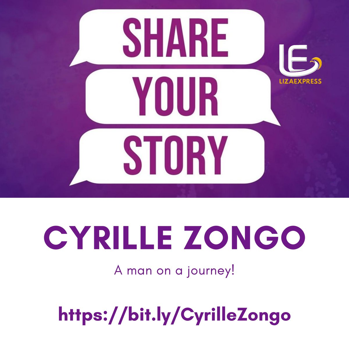 @CyrilleZongo wins our heart in his simple and honest narrative of failing and being on certain yet progressing.   full interview at http://bit.ly/CyrilleZongo   #journeys #shareyourstory #lizaexpresscpic.twitter.com/Tk2rh6bMRd