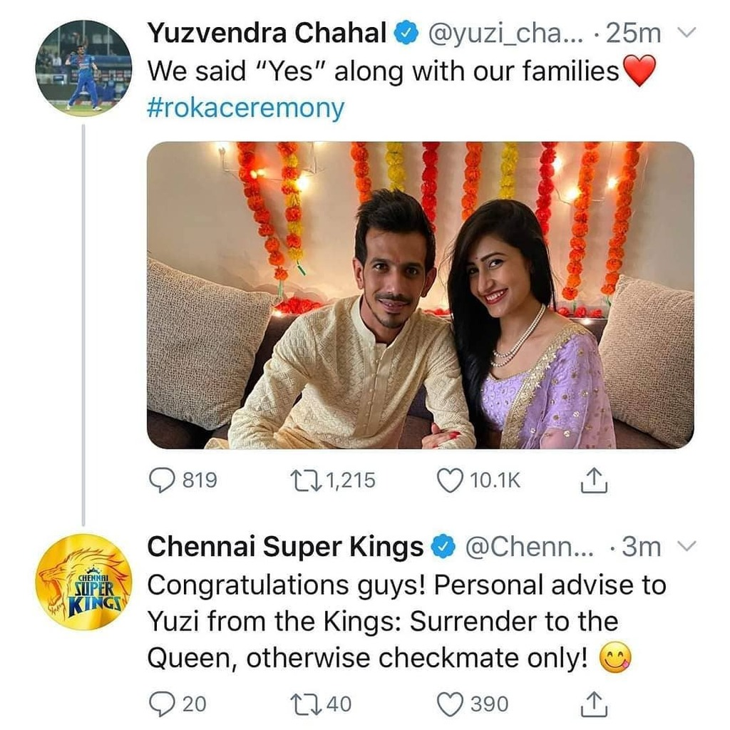 Congratulations @yuzi_chahal23 . #indiancricketer  #unprofessionaltrollerspic.twitter.com/xq4R9YP9YN