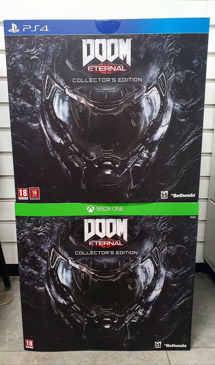 We have these limited edition Doom collector's edition available in store today. Reduced from £129.99 to £99.99 and only these two available.  Get down quick to grab yours now!  #DoomEternal #collectorsedition #game #Edinburgh #cheaperwhenyoutradeatgamepic.twitter.com/xoP22JZN6q