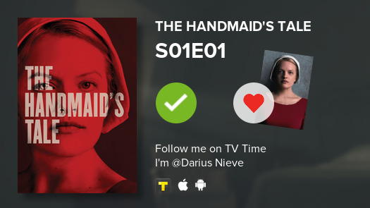 I've just watched episode S01E01 of The Handmaid's T...! #handmaidstale  #tvtime https://t.co/qlpMQrDt4D https://t.co/byToKbtaxl
