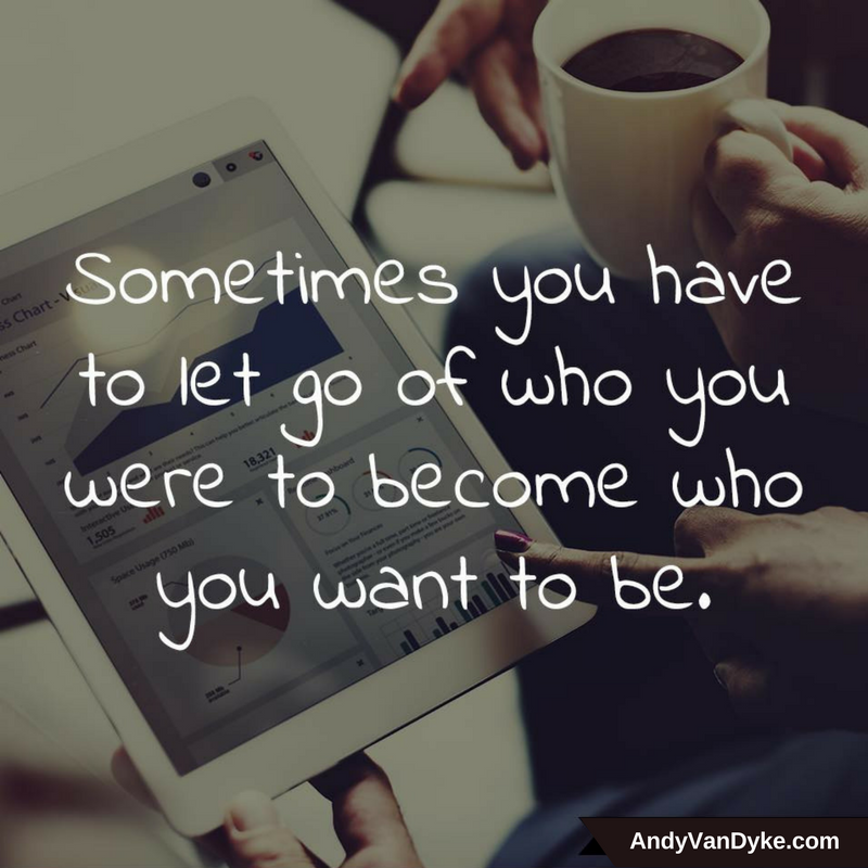 Sometimes you have to let go of who you were to become who you want to be. #JustDoIt