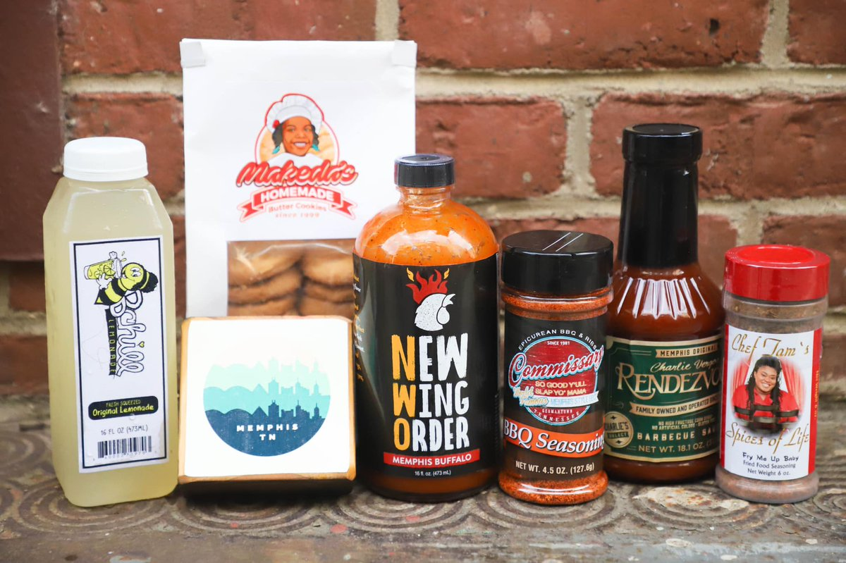 Know someone missing Memphis really bad right about now? Queue up some Elvis tunes and order them this curated collection of Memphis food artisans all in one box by Memphis City Tasting Box. Learn more: citytastingbox.com #smallbusinesssaturday #supportlocal #memphis