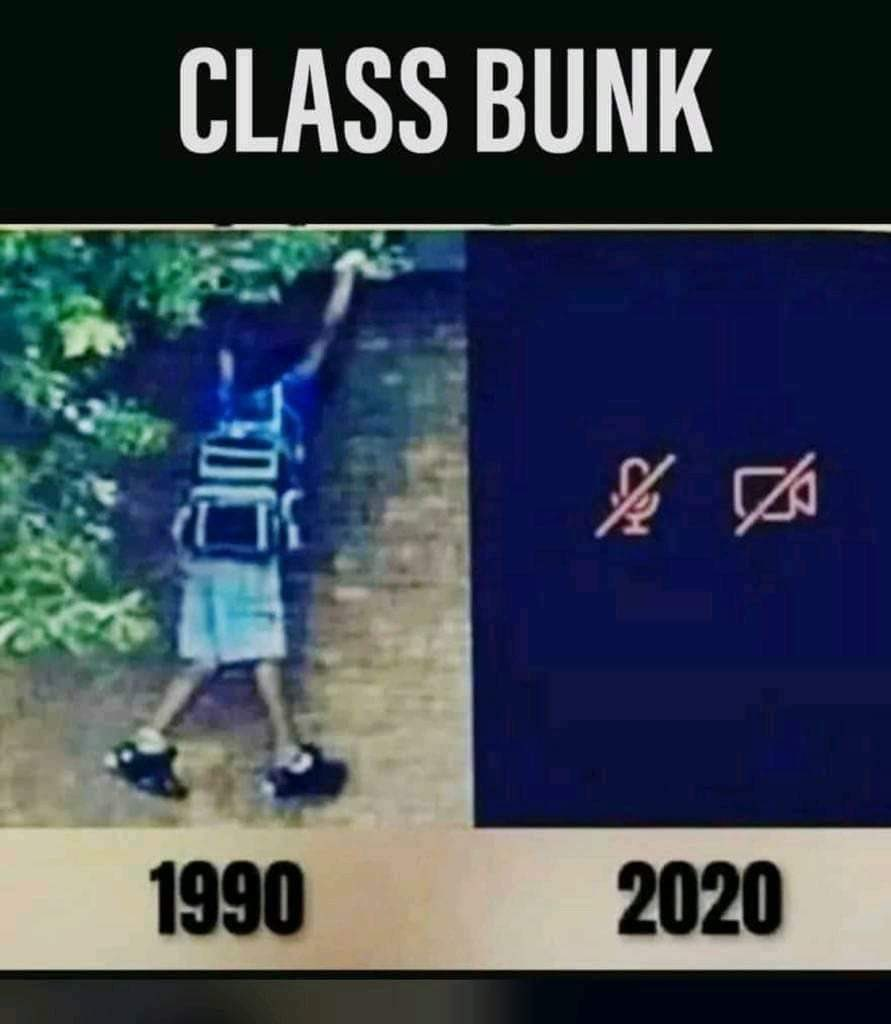 Times are so different now !! 😂🤪 #Changes #Joyofbunking https://t.co/MVIuQV1Lup