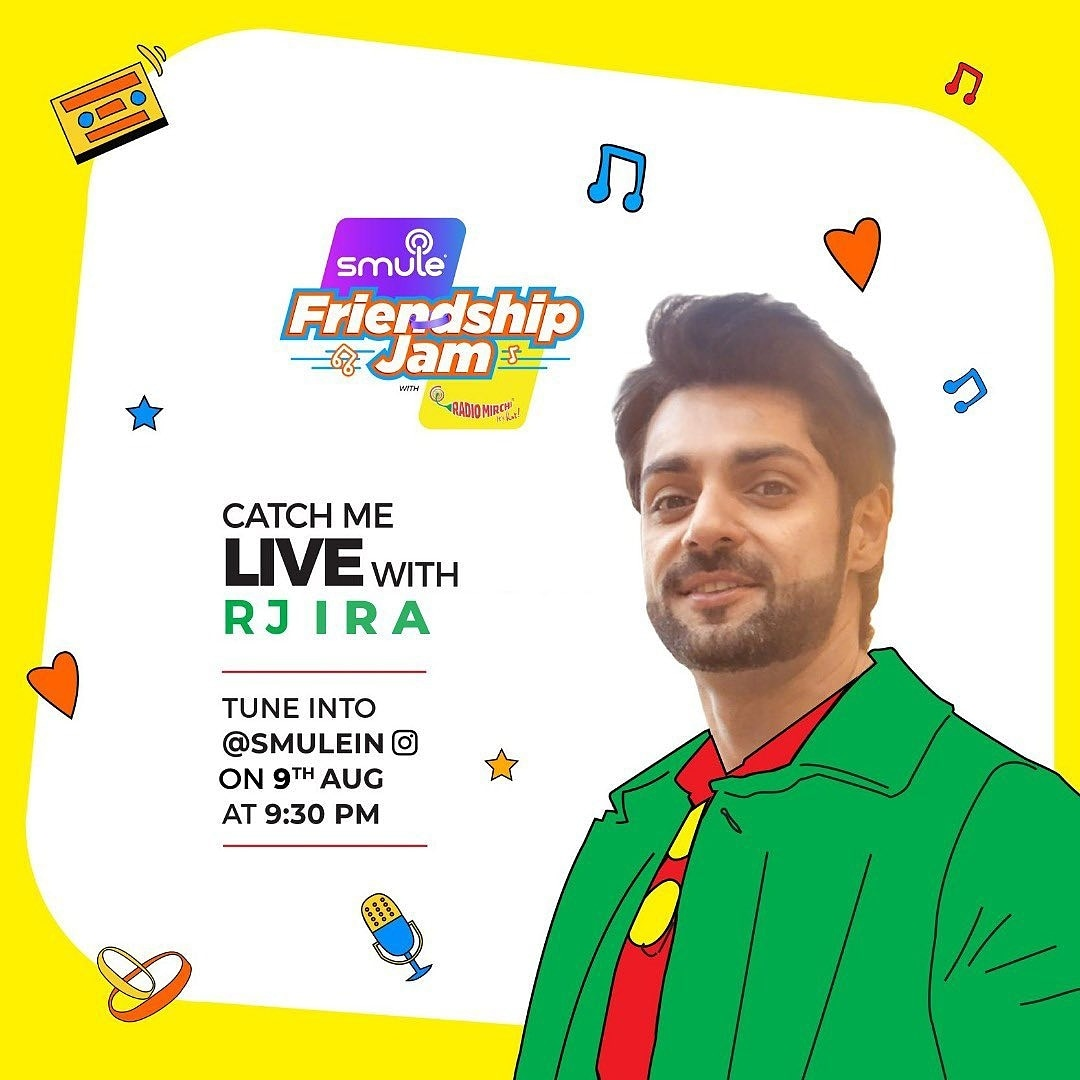 @karan009wahi Riyaaz? Done  Warm water? Done  This is my checklist as I want my tunes to be perfect as I go live with RJ Ira on @Smulein. Join me in a fun jam session where we will talk about music and friendship!  #SmuleIndia #IndiaJamKarega #SmuleFriendshipJam #RadioMirchi pic.twitter.com/OfY9glYtWa