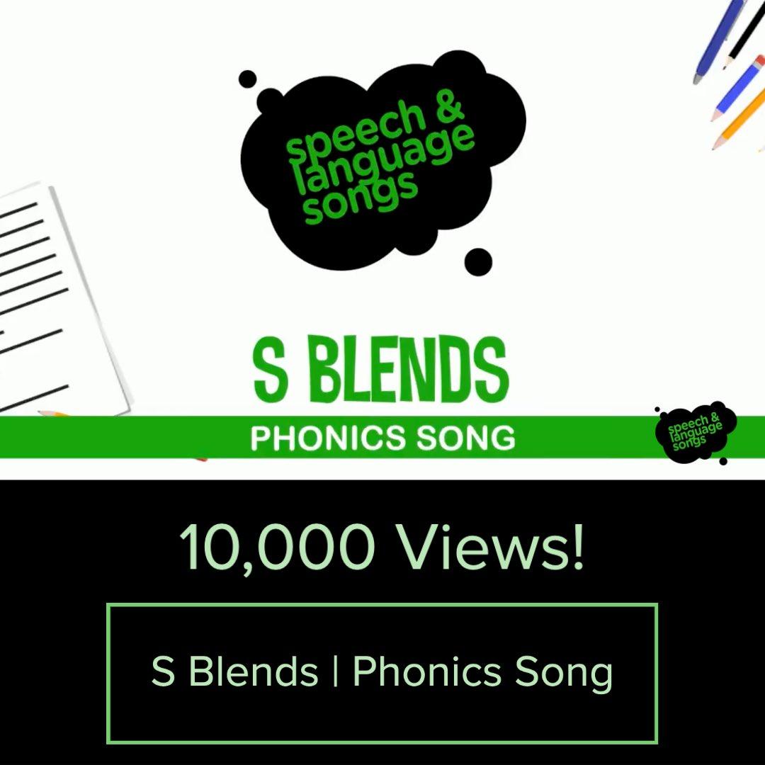 "Another video hit 10,000 views!  Check out ""S Blends   Phonics Song"" here - https://t.co/A9TDBdPJ6k  #phonics #literacy #phonemicawareness #read #education #bookworm #learningthroughplay #bookstagram #teachers #teachersofinstagram #raisingreaders #strugglingreaders #spelling https://t.co/Uq7ybrX4Bd"