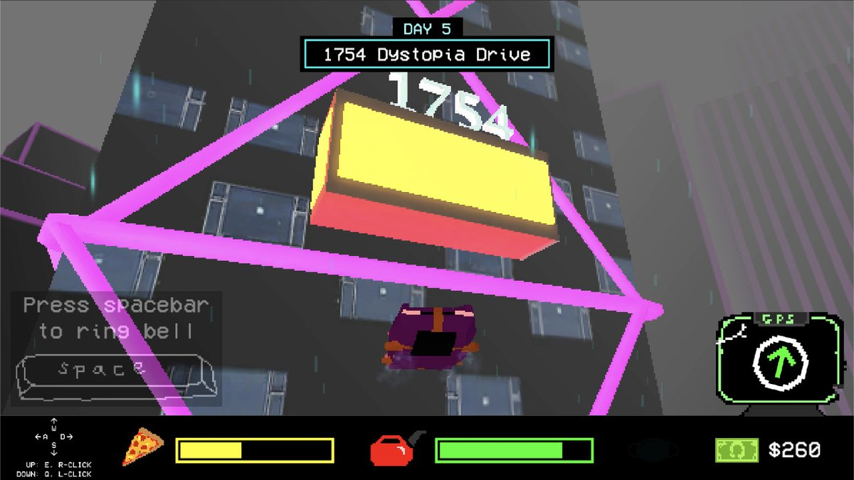 #screenshotsaturday for Rainy City: Pandemic- launching on MONDAY!!   Deliver packages for Betty's Pizza in this cyberpunk pixel world! #gamedev #indiedev #Pixel #pixelartist #gaming #pcgaming #Steam #madewithunity   https://store.steampowered.com/app/1316050/Rainy_City_Pandemic/…pic.twitter.com/JKtZaHPV2D