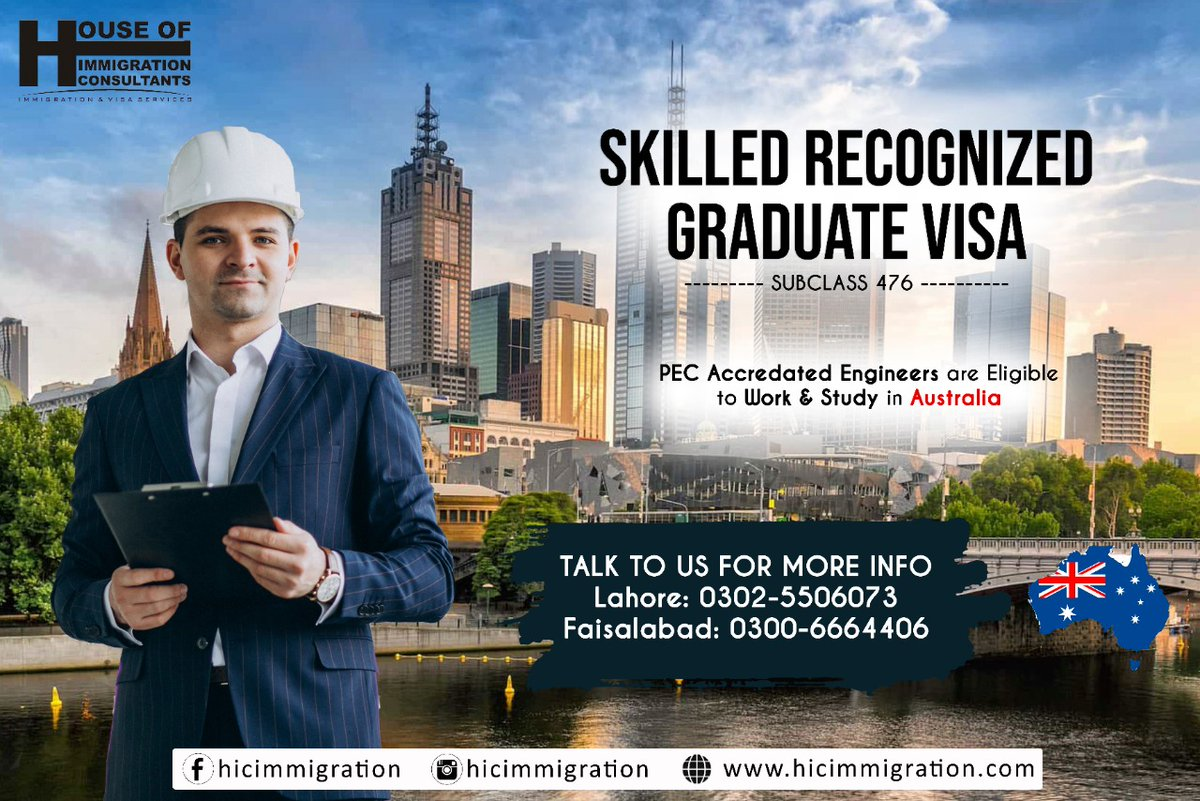 >> Big Opportunity for the Engineers of UET <<   (Washington Accord - Subclass 476)   Fresh and Prospective #UET Engineering Graduates having degree accredited with #Washington #Accord or #PEC accredited #University are encouraged to #apply.  Media Relations | UET Tribunepic.twitter.com/QFpPm8ZVNi