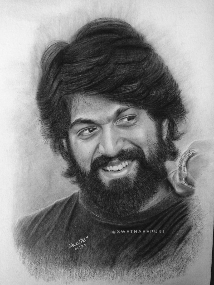 Pencil drawing @TheNameIsYash Sketch by me hope you love this :) #drawing #pencildrawing #RockingStarYash pic.twitter.com/YcqxtUwum4