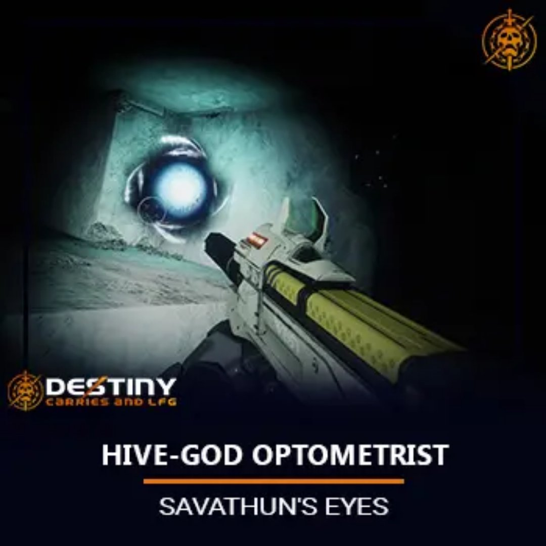 You'll need to destroy the rest for the Hive-God Optometrist Triumph, needed for the Moments of Triumph 2020 Seal and the Forerunner Arrivals Seal.  http://www.destinycarrieslfg.com/product/hive-god-optometrist/…  #pvp #destinymemes #videogames #twitch #trialsofosirispic.twitter.com/8nGBLPEqK1