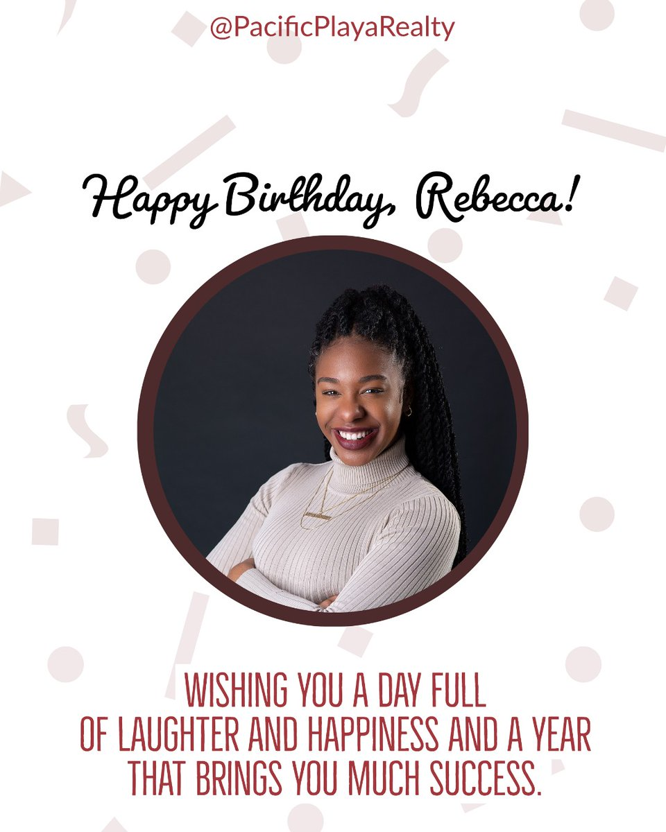 The whole team wishes you the happiest of birthdays and a great year, Rebecca! #happybirthday #birthdaywishespic.twitter.com/7xR5NSBvlf