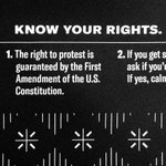 Image for the Tweet beginning: Know your rights. Wear your
