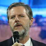 Image for the Tweet beginning: Jerry Falwell Jr. placed on