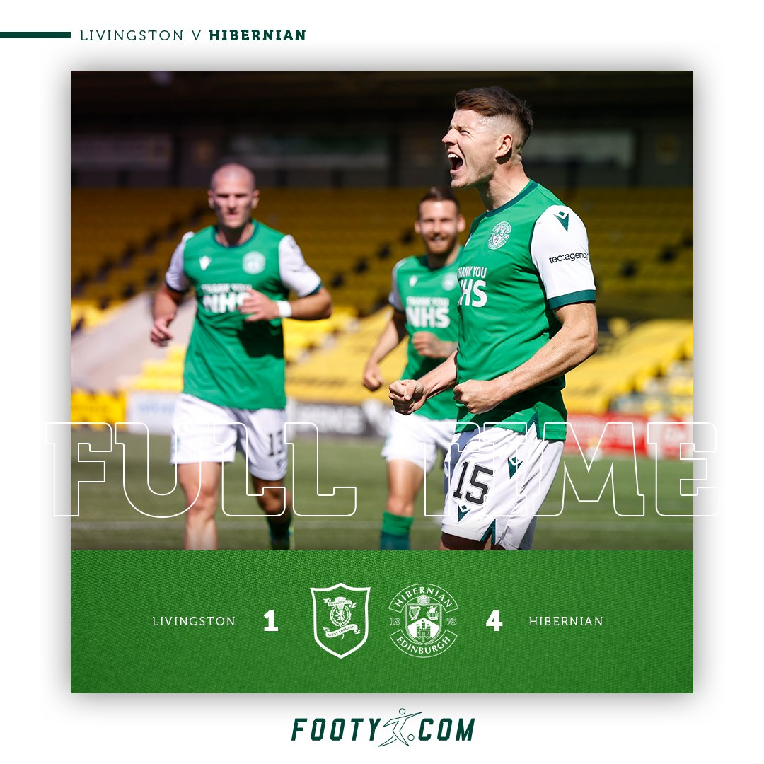FT LIV 1 - 4 #HIBS   It's a dream come true for @kevinnisbet16 who leaves Livingston with a hat-trick, in addition to Doidge's tap in means we leave with all three points.   Sponsored by @footydotcom_   https://t.co/BDQ2ca1iMN  #HibsLive https://t.co/P4eZcsmJO4