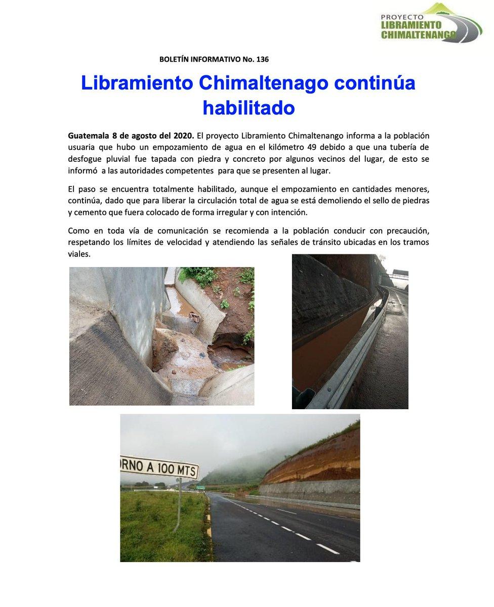 """test Twitter Media - El @LibraChimal informa que el paso esta habilitado tras un """"empozamiento de agua en el kilómetro 49"""". https://t.co/qqdCjHFMqC"""