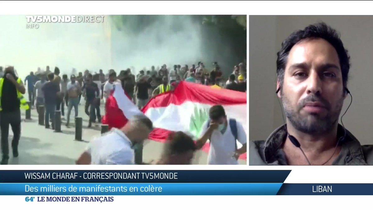 Notre correspondant, Wissam Charaf, nous raconte la colère des Libanais. Des milliers d'entre eux sont descendus dans les rues cet après-midi, pour contester le pouvoir, quatre jours après la double explosion de Beyrouth. https://t.co/znbdwYFwpd