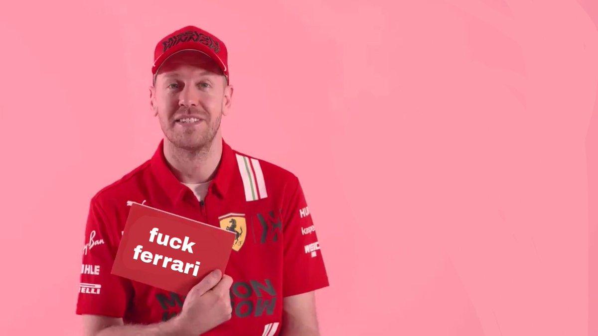 Vettel deveria ligar o foda-se amanhã!!!   Fazer rali cross com o carro da Ferrari nos gramados de Silverstone!!!  Dar um tapa na bunda do Kvyat, chutar o Leclerc e mijar no colchão do Binotto!!!  #F170 🇬🇧 #F1 #F1noBP #F1noSporTV https://t.co/pf5vYXhGiB
