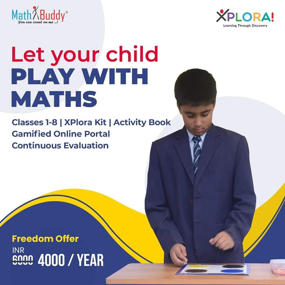 Let your child play with Maths. Presenting the Experiential Learning way of understanding mathematical concepts through hands-on DIY kits, activity books and gamified online portal. For details, visit https://www.mathbuddyonline.com/parent-pricing   #MathBuddy #XPlora #Maths #ExperientialLearning pic.twitter.com/mJTtaZ5qYF