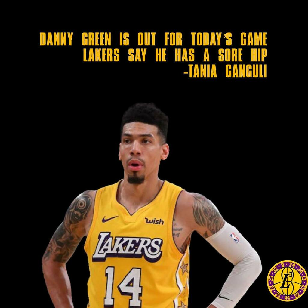 More lakers roster updates; @greenranger14 will not suit up tonight   #lakers #lakersvspacers  Via: @taniaganguli   _______  For more Lakers content follow @lakers_legacy_legends https://instagr.am/p/CDomThkDRGU/pic.twitter.com/jVJCxjhFKg