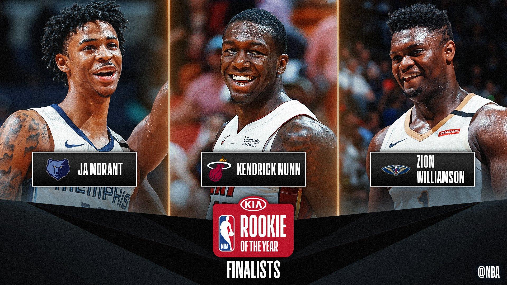 NBA. Scelti i tre finalisti per il premio di Rookie dell'anno: Morant, Nunn e Williamson