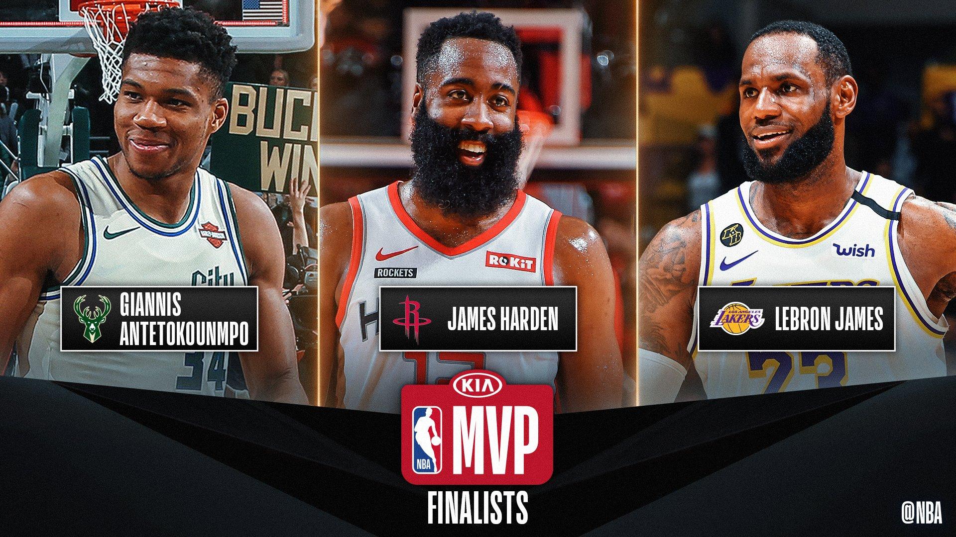 NBA. Scelti i tre finalisti per il premio di MVP dell'anno: Antetokounmpo, Harden e James