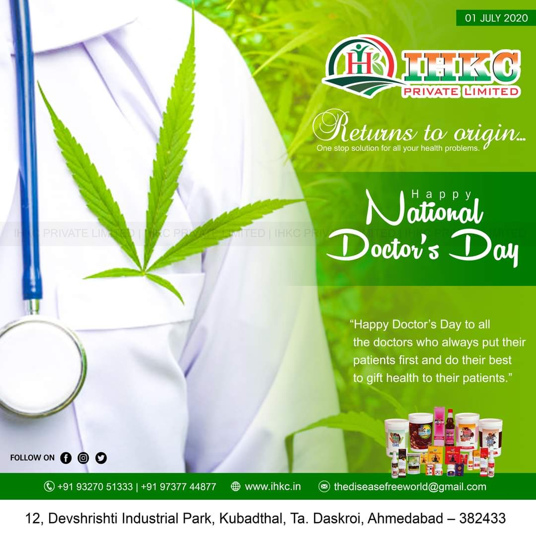 """01 July - Happy National Doctors' Day !!  """"Happy Doctor's Day to all the doctors who always put their patients first and do their best to gift health to their patients.""""  IHKC Private Limited #doctorsday #doctors #nationaldoctorsday #doctorslife #doctor #doctorsofinstagram https://t.co/uvG5zj1fEO"""