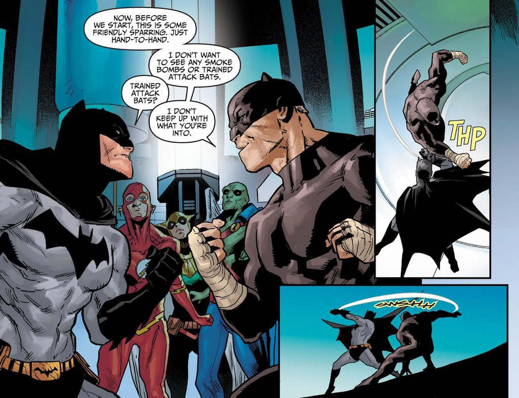 """Tom Taylor on Twitter: """"Batman spars with Wildcat with the Justice League  and JSA watching on. Have you checked out our first chapters of Injustice:  Year Zero yet? @Rogeantonio @rainberedo @jesswchen https://t.co/wpgPbpCIM7…"""