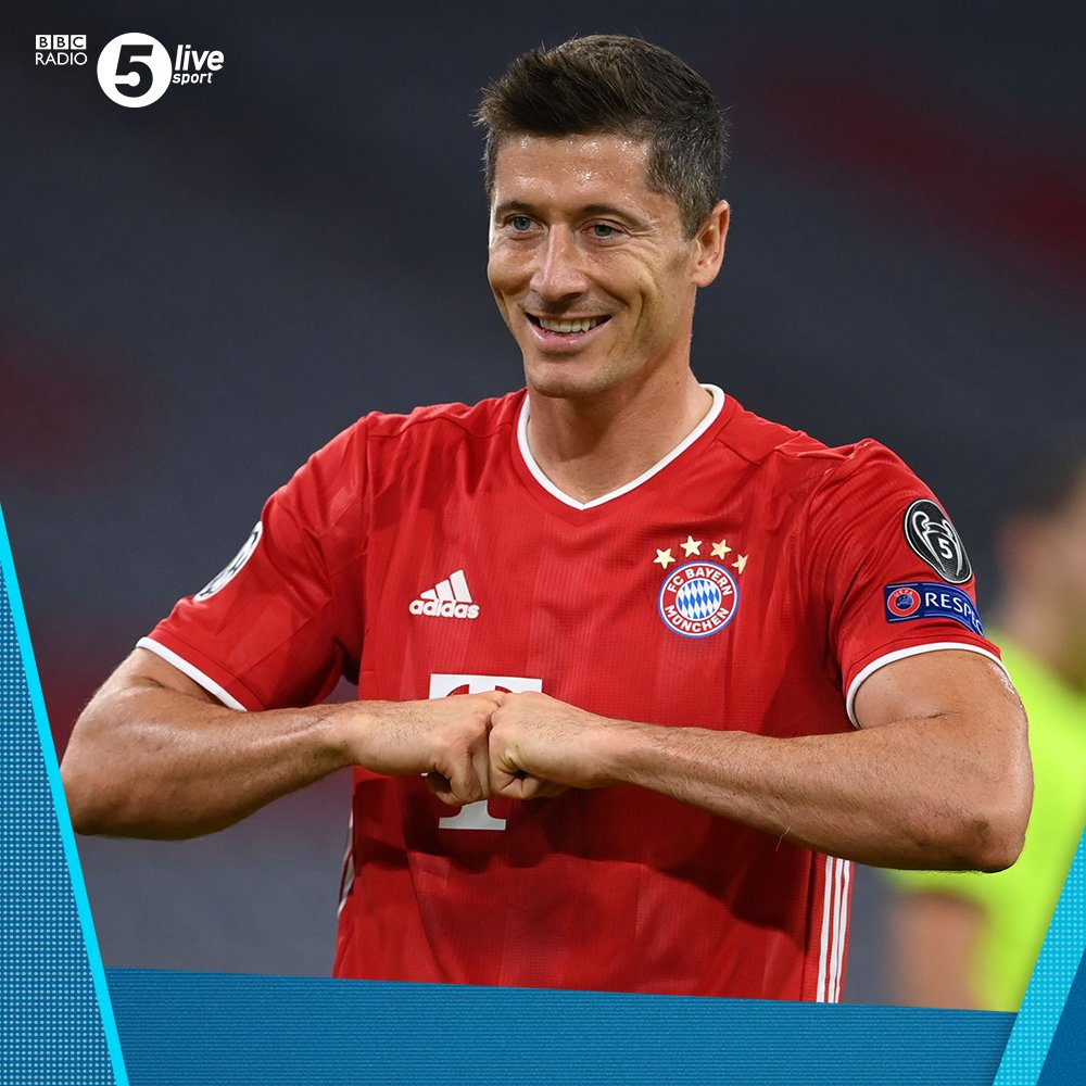🤜 𝗟𝗲𝘄𝗮𝗻𝗱𝗼𝘄𝘀𝗸𝗶 = goal machine 🤛  He has now scored 52 goals in all competitions this season, the most of any player in Europe's top five leagues.  30' - 🔴 Bayern Munich 2-0 Chelsea 🔵 (agg 5-0)  Join us on @BBCSounds 📲📻: https://t.co/5Du5Yilmm1 #UCL #BAYCHE https://t.co/RoQvvawhOC