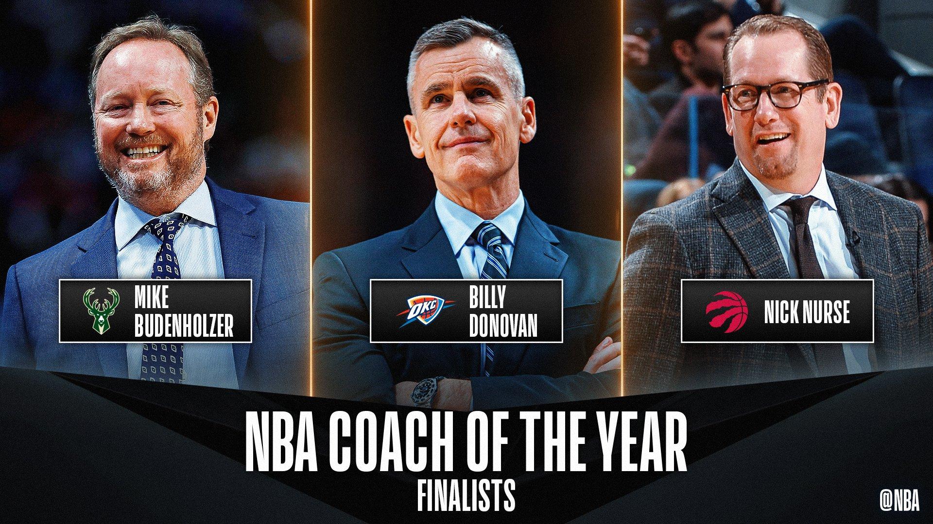 NBA. Scelti i tre finalisti per il premio di allenatore dell'anno: Budenholzer, Donovan, Nurse