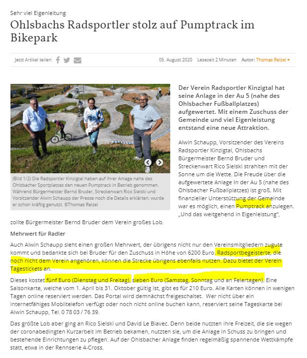 Ohlsbach (zwei Ortschaften neben Offenburg): neue Pumptrack-Anlage im Bikepark eröffnet Das ist doch einen Besuch wert für radbegeisterte Kids pic.twitter.com/S2mOoBC5HU