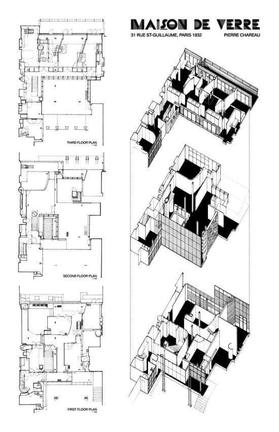 Angel Muniz On Twitter Maison De Verre Paris 1928 1932 Pierre Chareau Architecture Arquitectura Drawing Plan Pierrechareau Chareau Https T Co Amjlqdbcpl