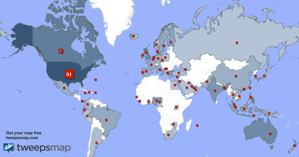 I have 12 new followers from USA, and more last week. See tweepsmap.com/!Gregbagby