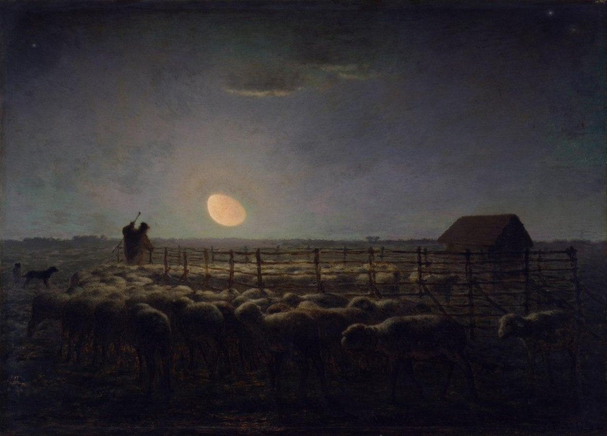Jean-François Millet The Sheepfold, 1853