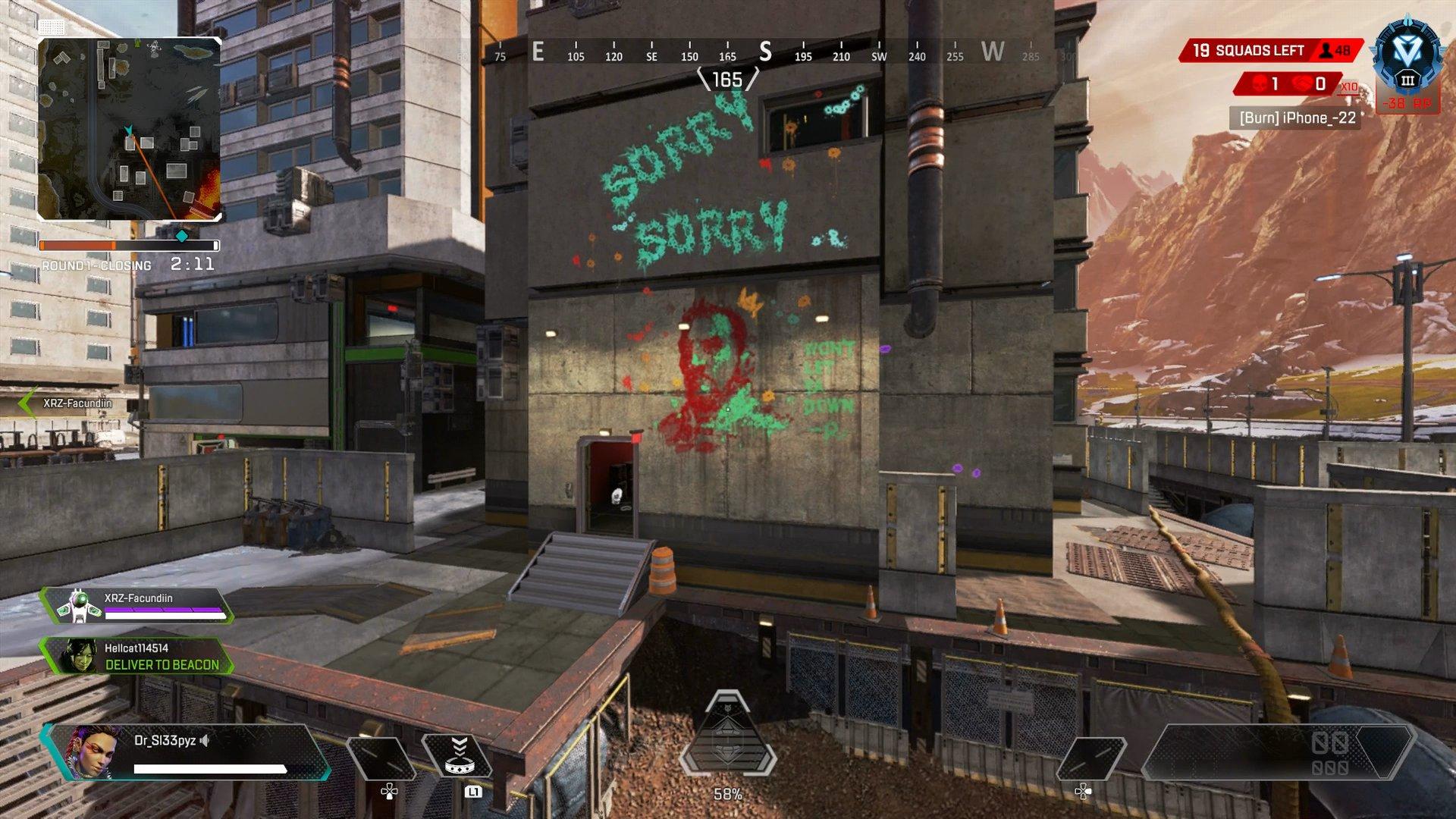Apex Legends Season 6 latest teaser graffiti of Kuben Blisk by Rampart.