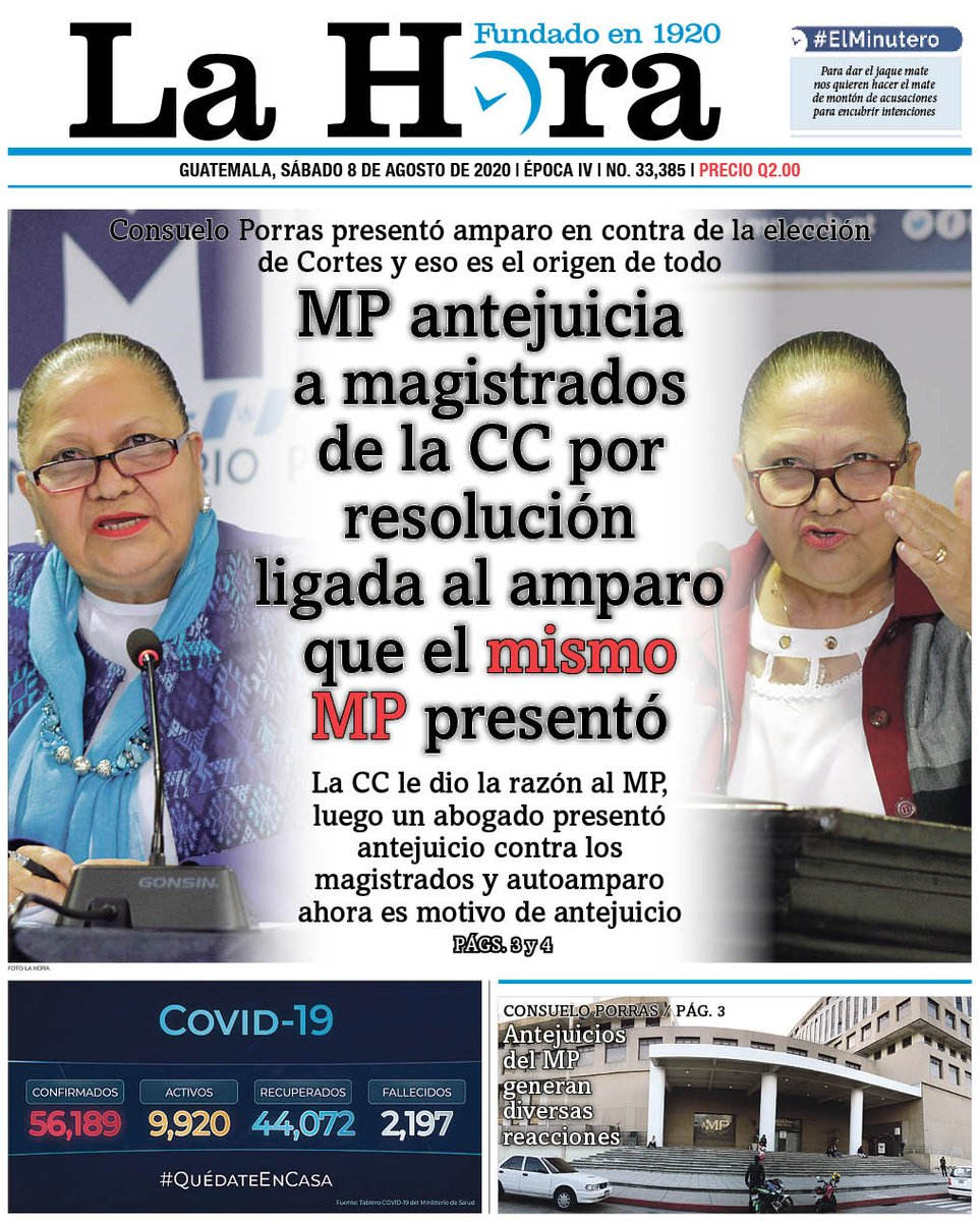test Twitter Media - #PORTADADEHOY MP antejuicia a magistrados de la CC por resolución ligada al amparo que el mismo MP presentó 👉🏽[https://t.co/baNO76ZoKI] https://t.co/v30RVAEP0C