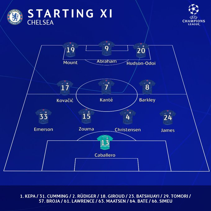 Line Up Chelsea