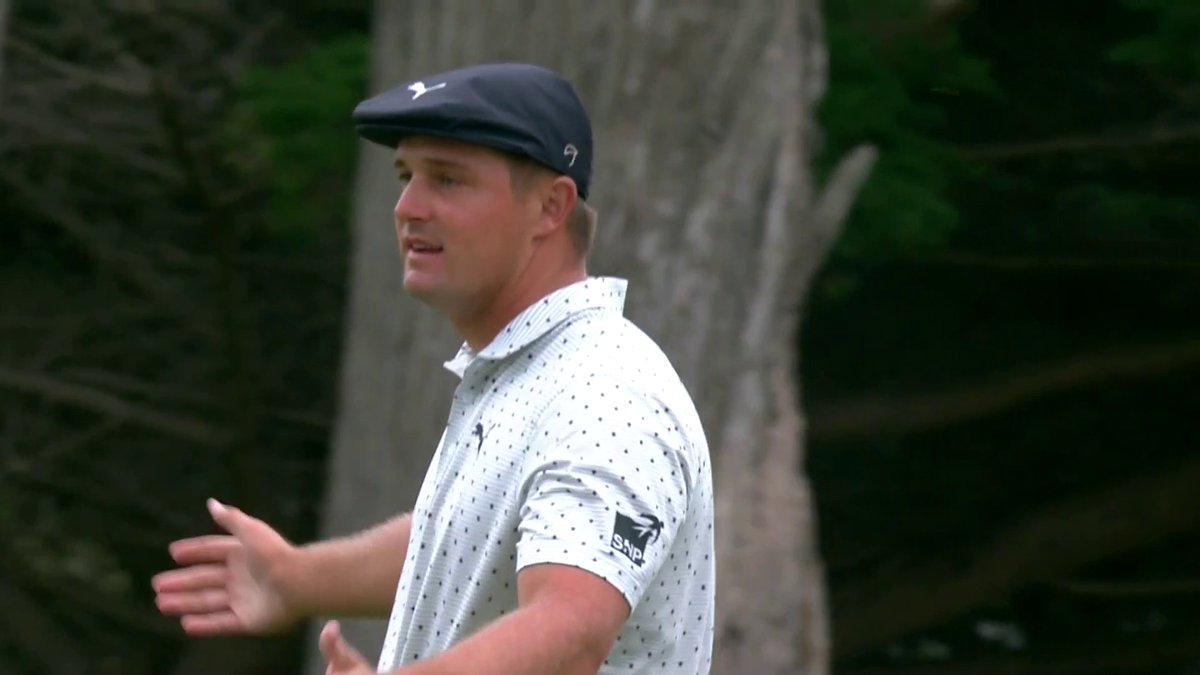 From 95 feet ... What a way to finish the round, @B_DeChambeau.