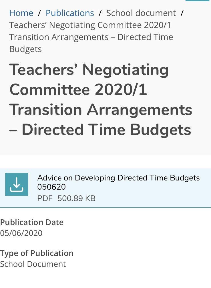 Time budget guidance https://t.co/Znk619ZRSm #nischoolleaders https://t.co/MuAefnOwSE