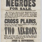Image for the Tweet beginning: Broadside announcing the sale of