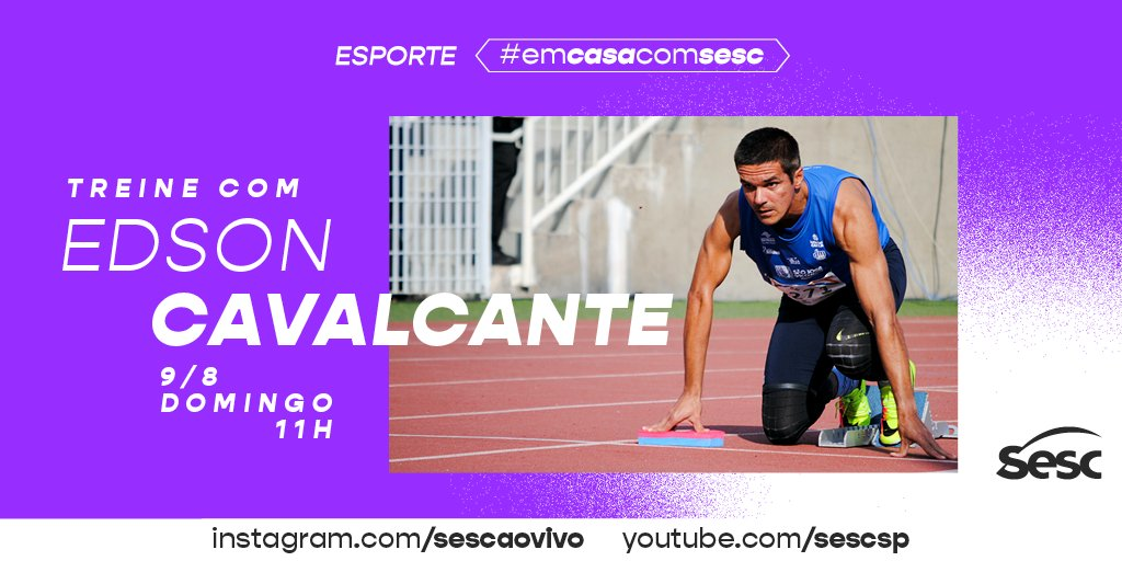 Treine conosco!  Amanhã, domingo, 9/8, às 11h, no Instagram (https://t.co/BhhtZ2m8fi) e no YouTube (https://t.co/RyEEQqwGAB) 😉    #SescAoVivo  #SescSP  #Sesc  #EdsonCavalcante  #Paradesporto  #AtletismoParalimpico  #Tokio2021  #Esporte  #Live  #MesaBrasil  #ProgramaçãoSescSP https://t.co/oKdtvekMfU