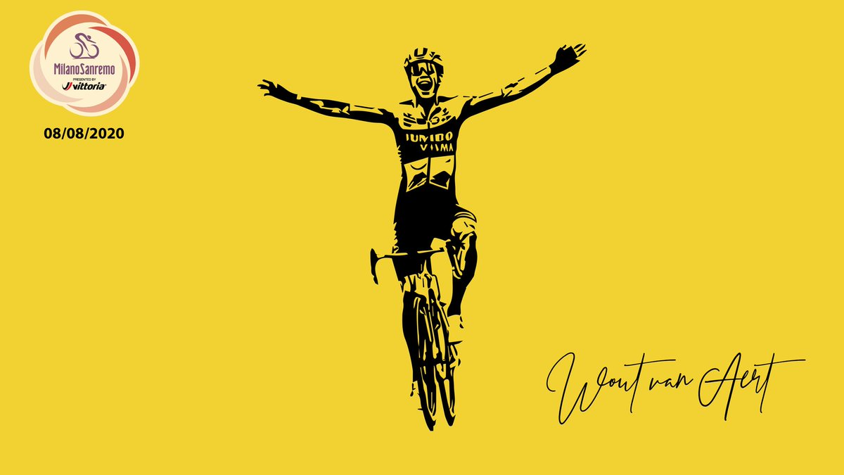 Congratulations @WoutvanAert  for winning @Milano_Sanremo Here is a little art piece I made of that Victor.  #woutvanaert #jumbo #jumbovisma #art  #cycling #champion #cyclinglife #cyclingstyle #winner #1 #roadcycling #cyclocross #bianci #lazer #milaansanremo https://t.co/cfVzNqyAD7