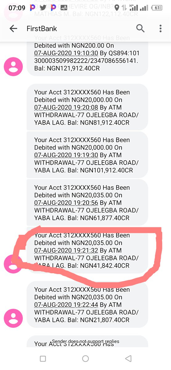 @FirstBankngr I made a complaint this morning regarding the 20,000 which is yet to be reversed to my account and I was told by #firstcontact to wait till it's 24hrs and it's already 24hrs but no reversal is done, pls help me out I need this money for an emergency situation.thanks pic.twitter.com/GgemK8PQbY