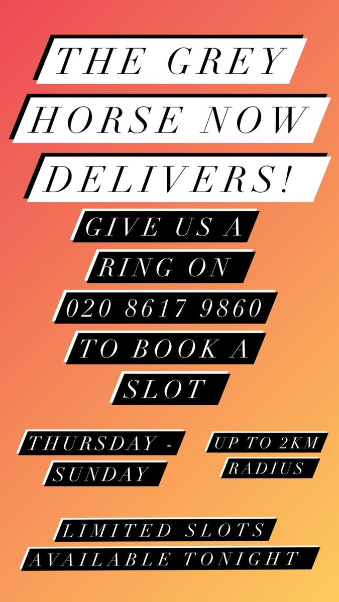We now deliver Thursday- Sunday 5pm- 10pm! #delivery #takeout https://t.co/GTJjNPNx4o