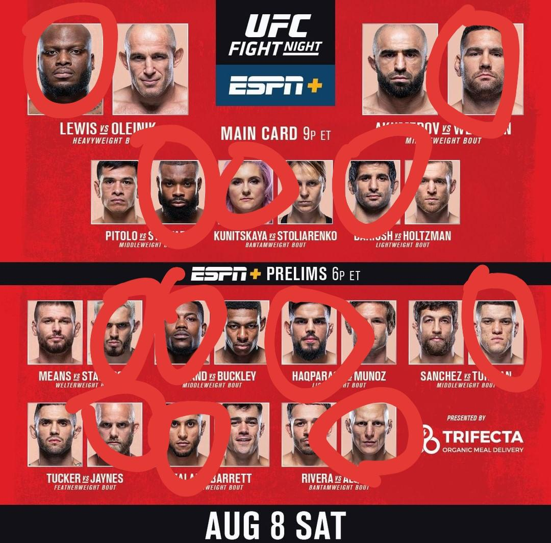 UFC Vegas 6 Thread:  Here Are My Fight Picks 👇🏽  #UFCVegas6 #UFCOnESPN #UFC https://t.co/WTBlKOOTpE