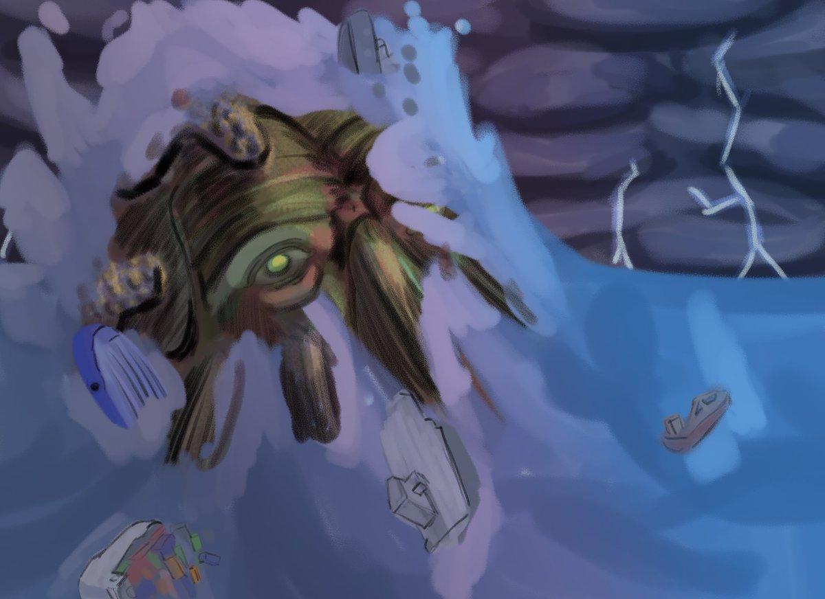 This weeks drawings sea monster theme  #Lovecraft #Cthulhu #starwars #starwarsmonsters #starwarsart pic.twitter.com/aY6j7933jb